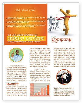 Victory In The Race Newsletter Template, 03896, Business Concepts — PoweredTemplate.com
