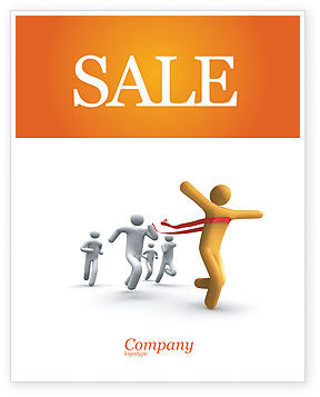 Business Concepts: Victory In The Race Sale Poster Template #03896