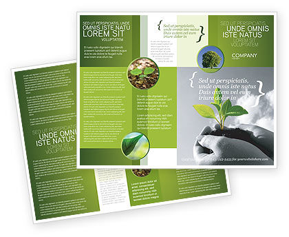 New Sprout Brochure Template, 03899, Nature & Environment — PoweredTemplate.com