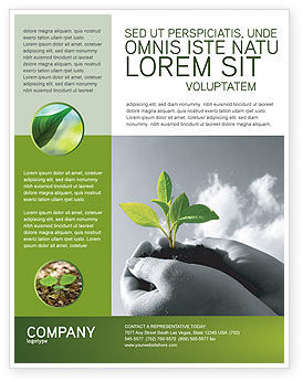 New Sprout Flyer Template, 03899, Nature & Environment — PoweredTemplate.com