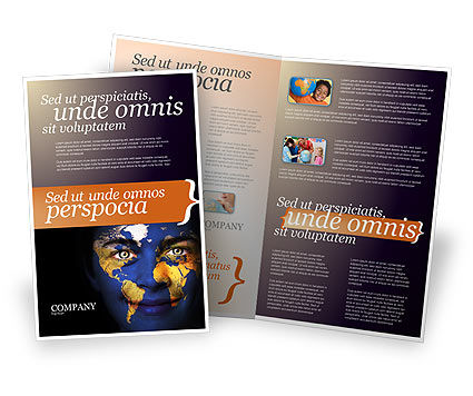 Education & Training: Childrens Of the World Brochure Template #03901