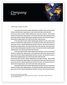 Education & Training: Childrens Of the World Letterhead Template #03901