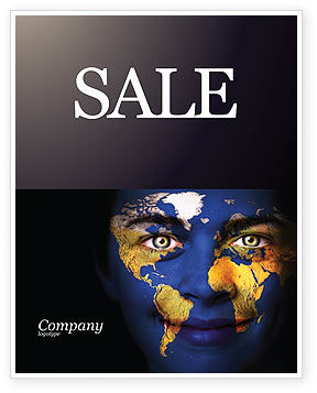 Childrens Of the World Sale Poster Template, 03901, Education & Training — PoweredTemplate.com