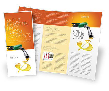 Fuel Prices Brochure Template, 03903, Financial/Accounting — PoweredTemplate.com