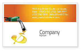 Financial/Accounting: Fuel Prices Business Card Template #03903