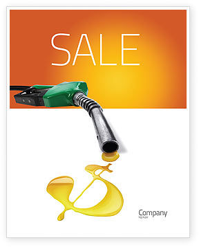 Fuel Prices Sale Poster Template, 03903, Financial/Accounting — PoweredTemplate.com
