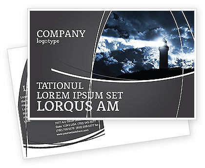 Business Concepts: Pharos Postcard Template #03906