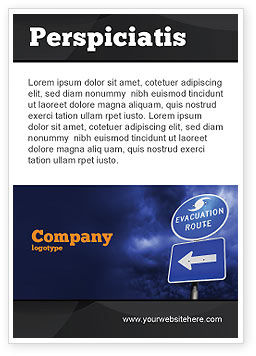 Evacuation Route Ad Template, 03908, Nature & Environment — PoweredTemplate.com