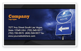 Evacuation Route Business Card Template, 03908, Nature & Environment — PoweredTemplate.com