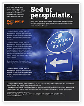 Evacuation Route Flyer Template