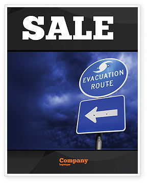 Nature & Environment: Evacuation Route Sale Poster Template #03908