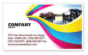 Cars/Transportation: Concept Cars Business Card Template #03909