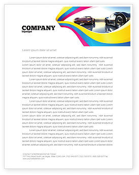 Cars/Transportation: Concept Cars Letterhead Template #03909