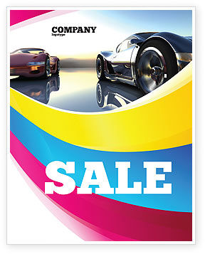 Cars/Transportation: Concept Cars Sale Poster Template #03909