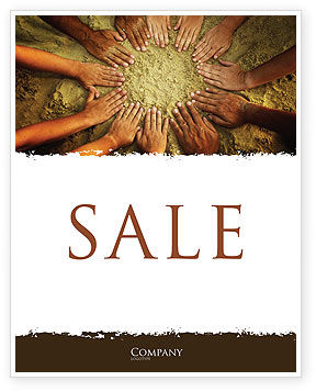 Unity Hands Touching Ground Sale Poster Template