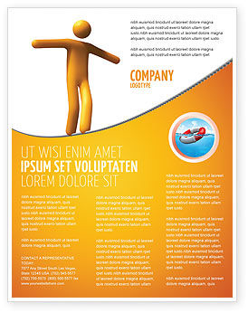 Business Concepts: Ropewalker Flyer Template #03913