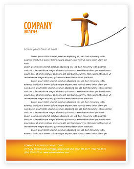 Business Concepts: Ropewalker Letterhead Template #03913