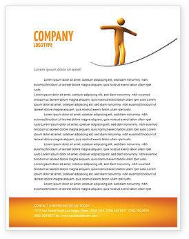 Business Concepts: Ropewalker Letterhead Template #03913