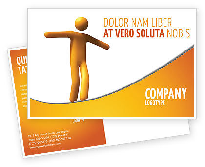 Business Concepts: Modèle de Carte postale de ropewalker #03913