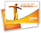 Business Concepts: Ropewalker Postcard Template #03913