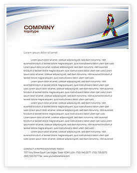 Ribbon Letterhead Template, 03914, Religious/Spiritual — PoweredTemplate.com