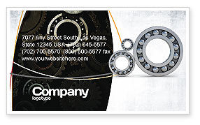 Bearing Business Card Template, 03917, Utilities/Industrial — PoweredTemplate.com