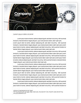 Utilities/Industrial: Bearing Letterhead Template #03917
