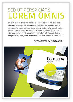 Sports: Tennis Ball Ad Template #03918