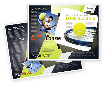 Tennis Ball Brochure Template, 03918, Sports — PoweredTemplate.com