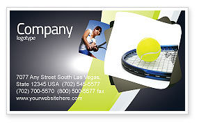 Sports: Tennisbal Visitekaartje Template #03918