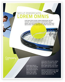 Sports: Tennis Ball Flyer Template #03918