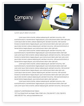 Sports: Tennis Ball Letterhead Template #03918