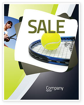 Sports: Tennisbal Poster Template #03918