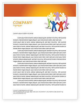 Education & Training: United People Letterhead Template #03919