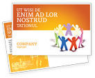 Education & Training: United People Postcard Template #03919