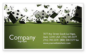 Dice In Game Business Card Template, 03923, Business — PoweredTemplate.com