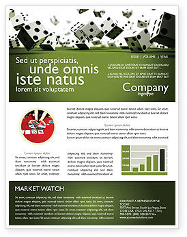 Business: Dice In Game Newsletter Template #03923