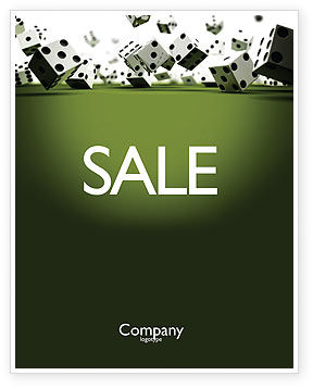 Business: Dice In Game Sale Poster Template #03923