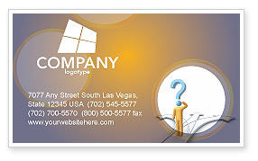 Problem Of Choice Business Card Template, 03924, Business Concepts — PoweredTemplate.com