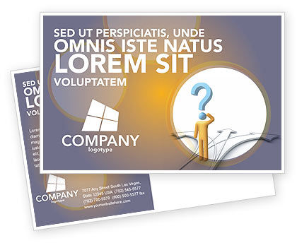 Business Concepts: Problem Of Choice Postcard Template #03924