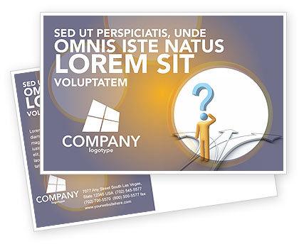 Problem Of Choice Postcard Template, 03924, Business Concepts — PoweredTemplate.com