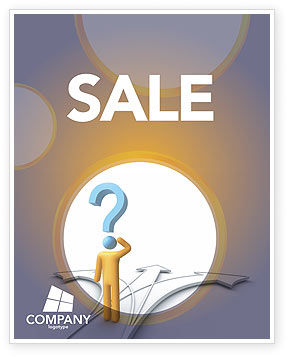 Problem Of Choice Sale Poster Template, 03924, Business Concepts — PoweredTemplate.com