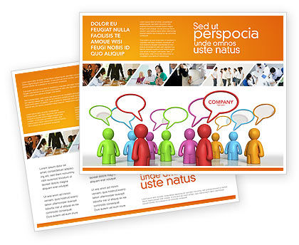 Talk Brochure Template, 03925, Consulting — PoweredTemplate.com