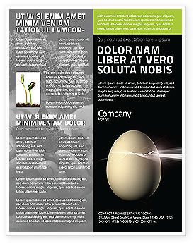 Birth Flyer Template, 03926, Business Concepts — PoweredTemplate.com