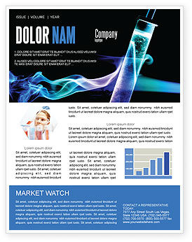 Technology, Science & Computers: Industrial Chemistry Newsletter Template #03927