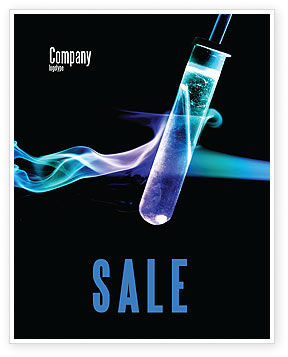 Technology, Science & Computers: Industrial Chemistry Sale Poster Template #03927