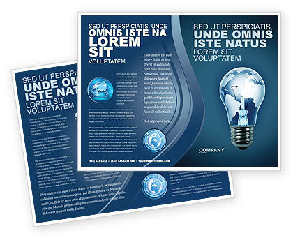 Global: Technological Progress Brochure Template #03929