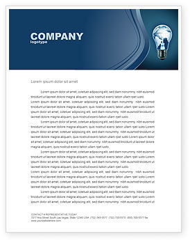 Global: Technological Progress Letterhead Template #03929