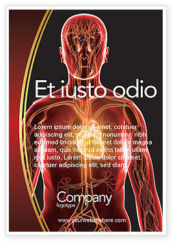 Blood Vascular System Ad Template, 03930, Medical — PoweredTemplate.com