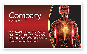 Medical: Blood Vascular System Business Card Template #03930